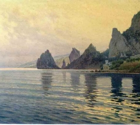Вид на море с Симеиза начала 20 века