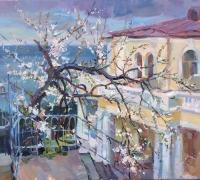 Цветение вишни, работа Анастасии Калюжной
